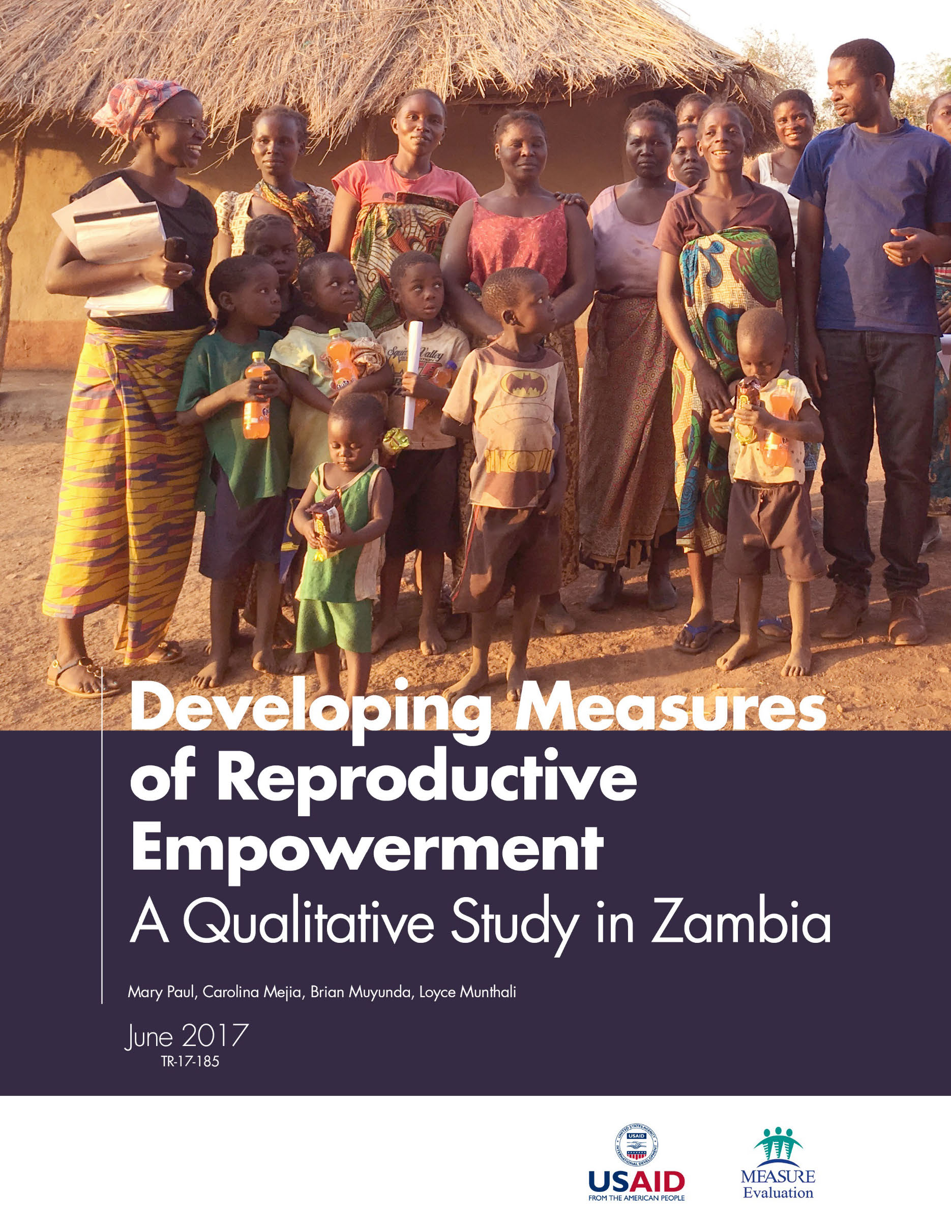 Developing Measures of Reproductive Empowerment  A Qualitative Study in Zambia