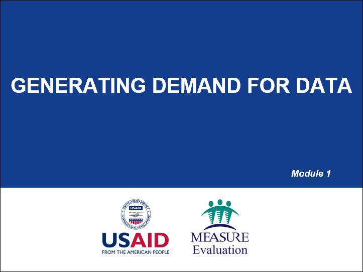 Generating Demand for Data