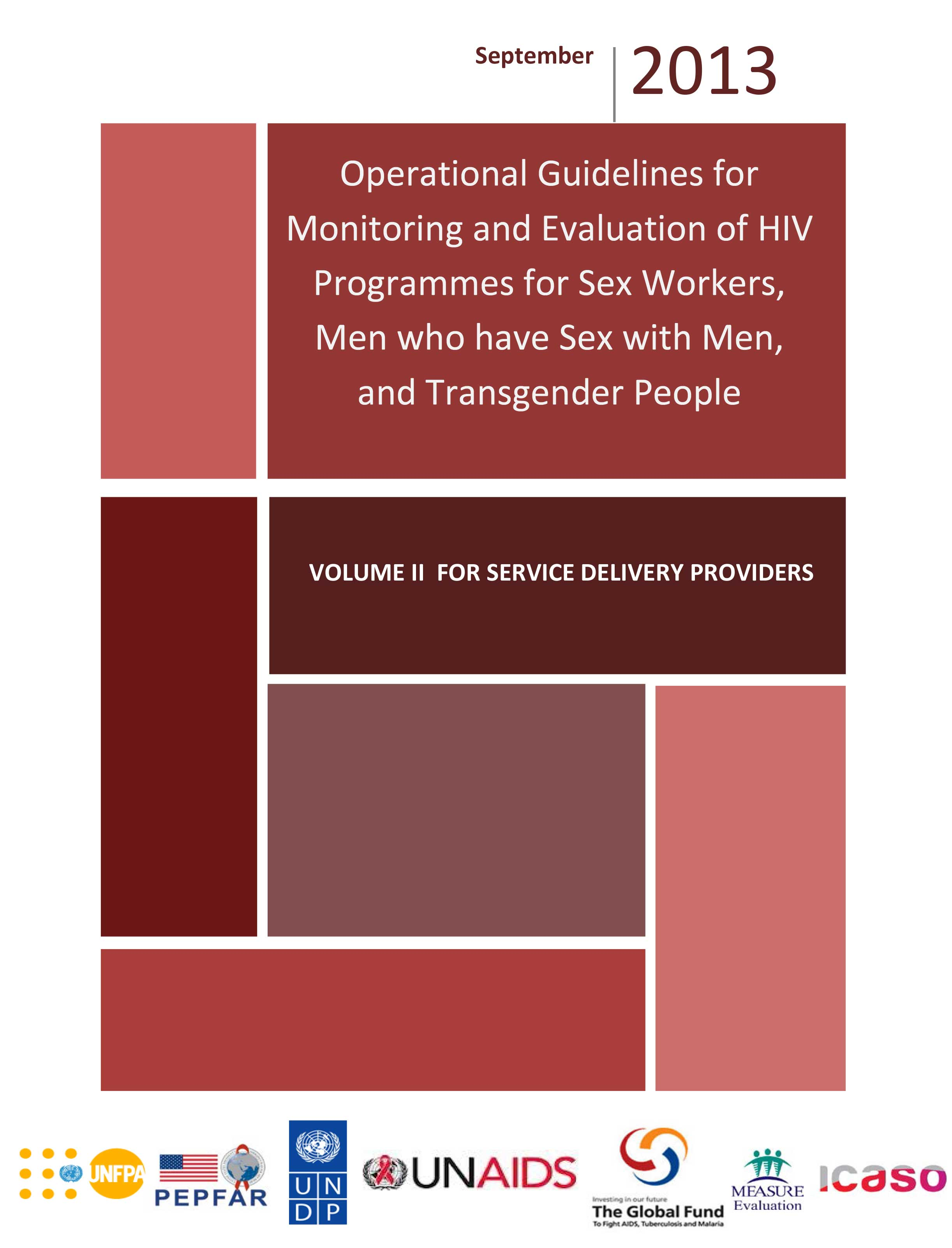 Operational Guidelines for Monitoring and Evaluation of HIV Programmes for Sex Workers