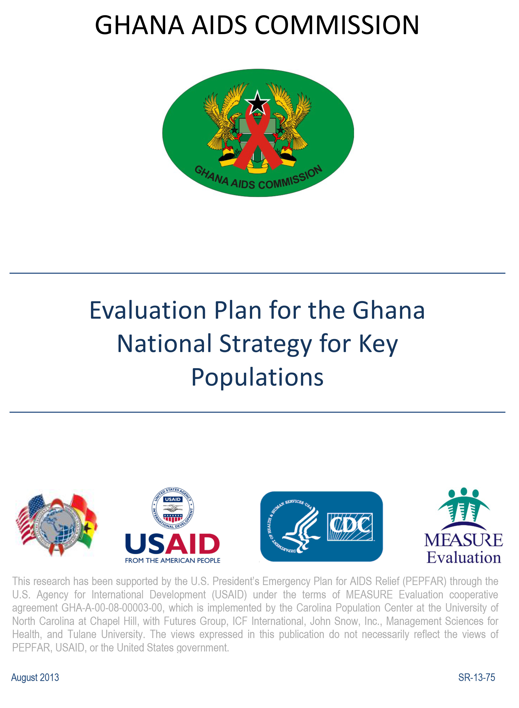 Evaluation Plan for the Ghana National Strategy for Key Populations