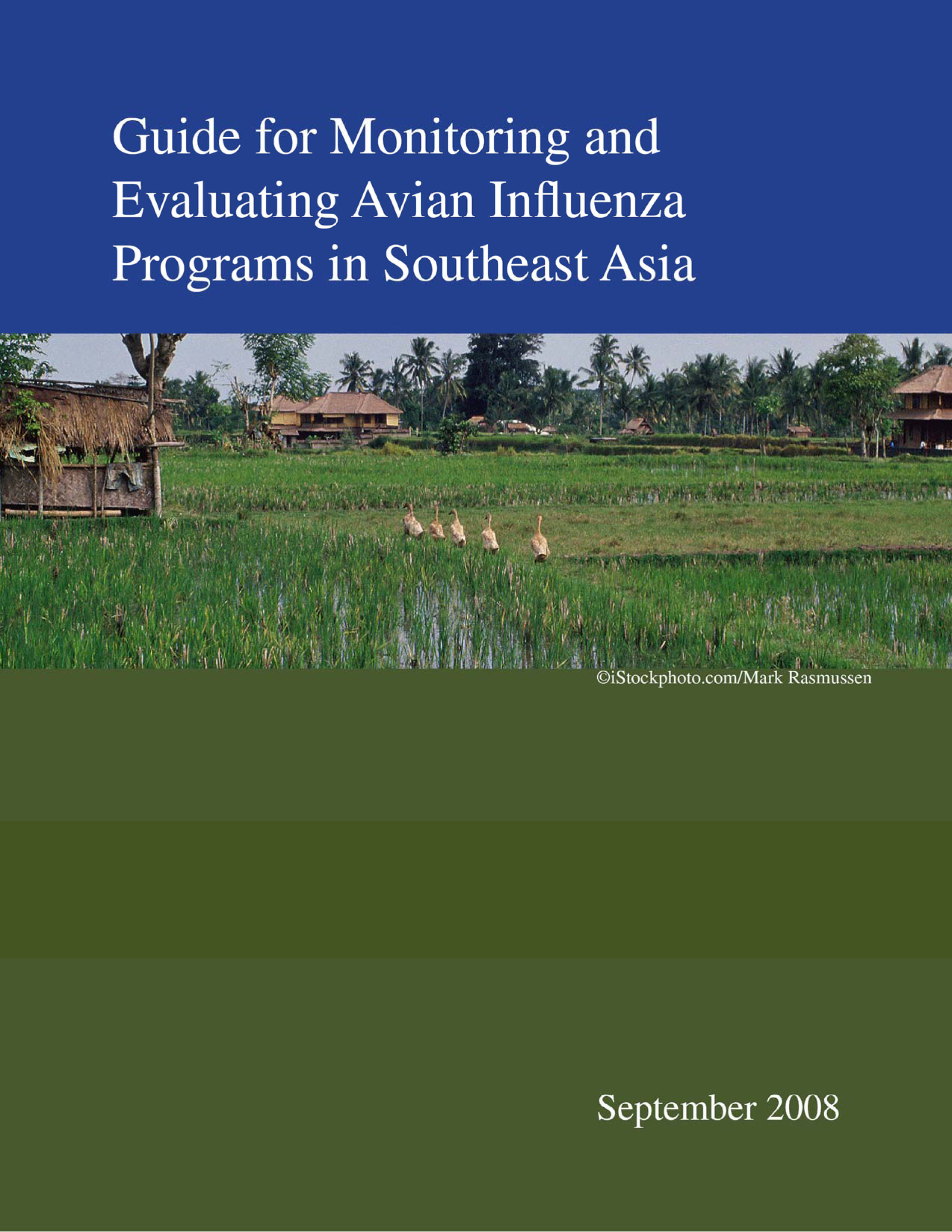 Guide for Monitoring and Evaluating Avian Influenza Programs in Southeast Asia