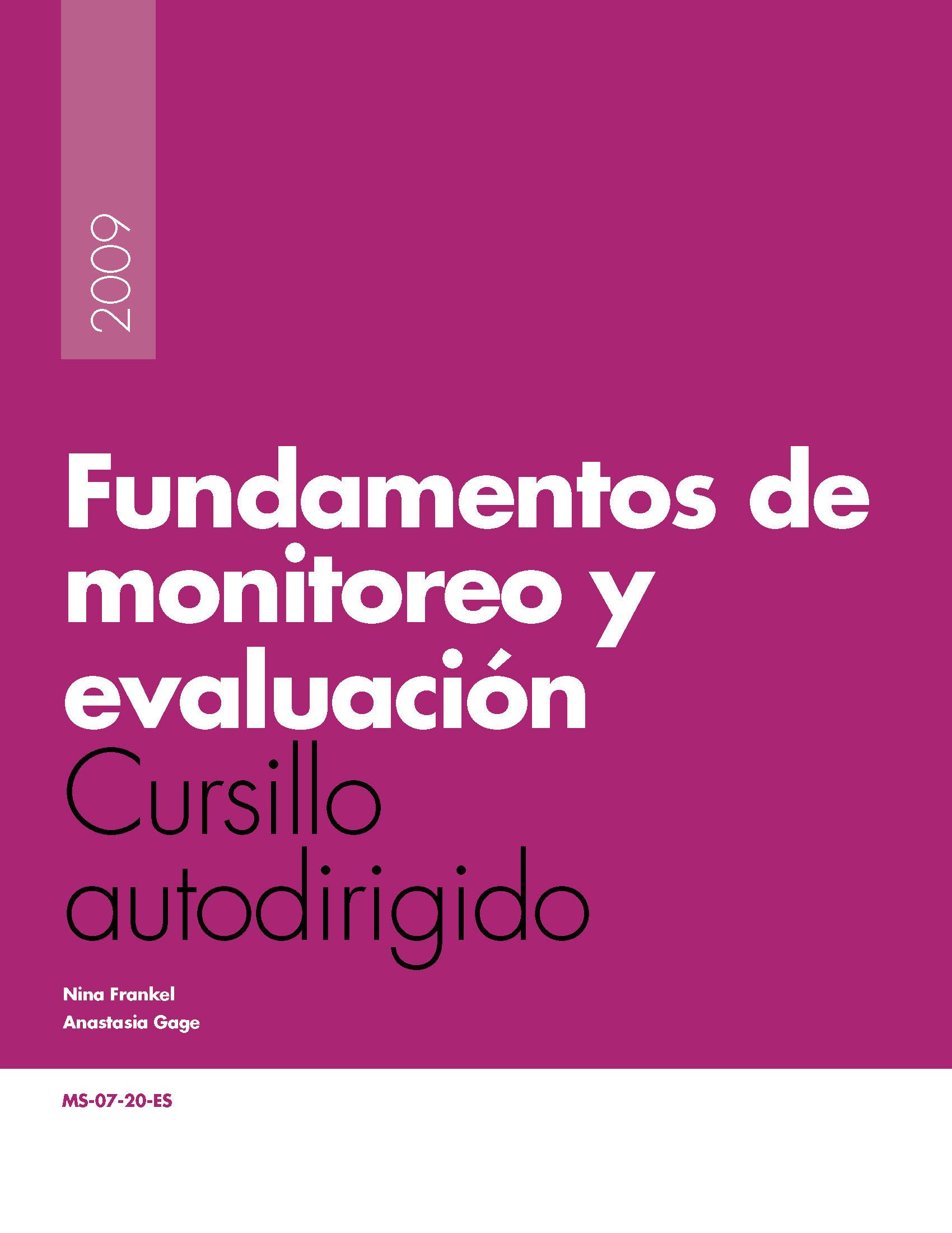 Fundamentos de monitoreo y evaluacin