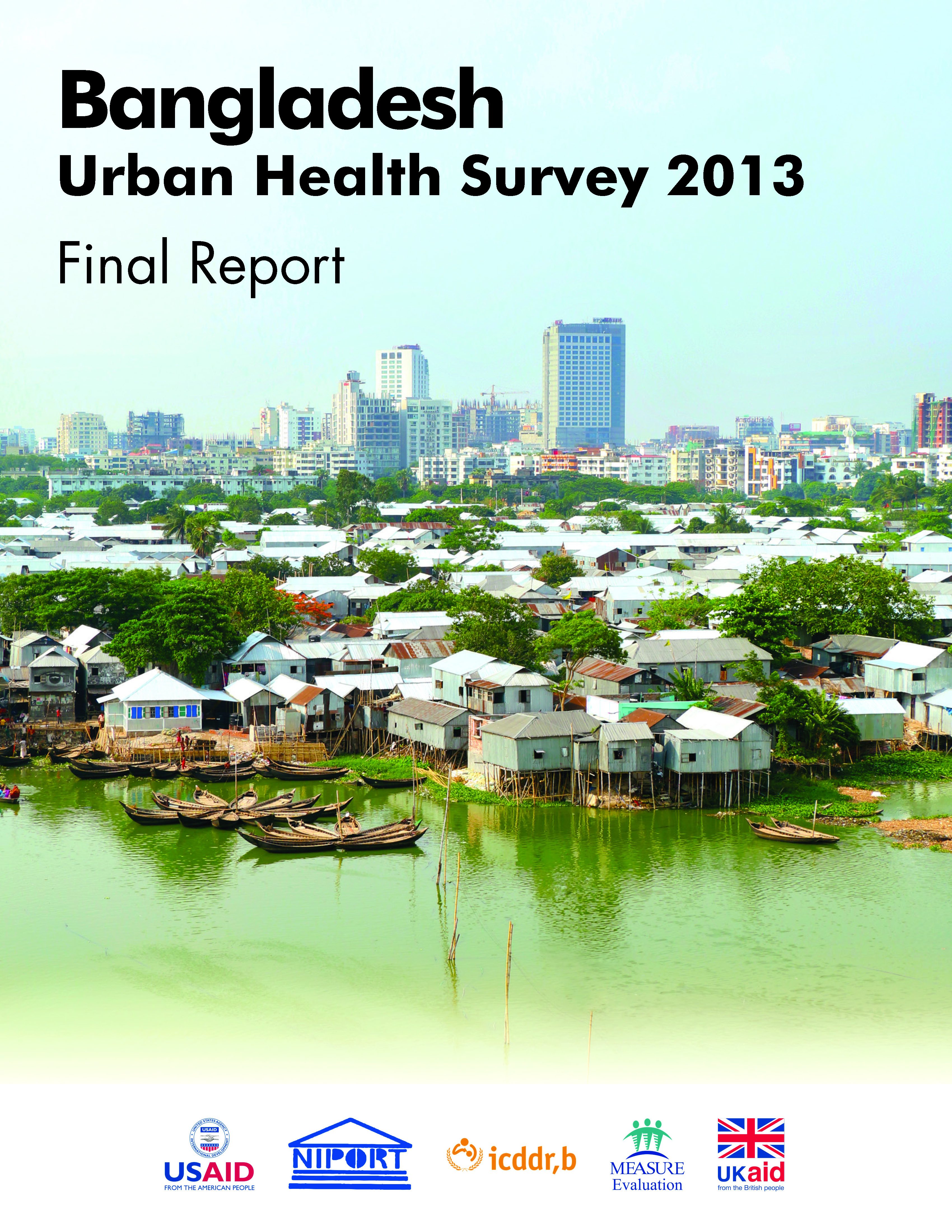 Bangladesh Urban Health Survey 2013 Final Report