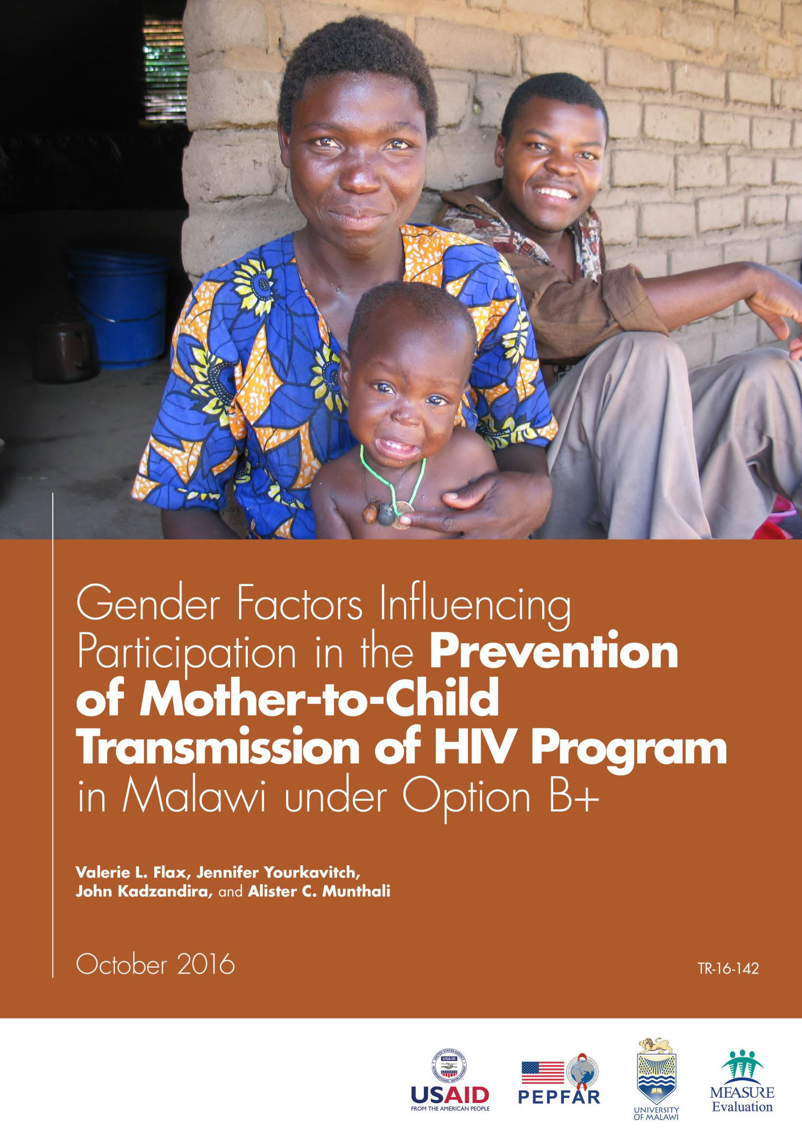 Gender Factors Influencing Participation in the Prevention of Mother-to-Child Transmission of HIV Program in Malawi under Option B+