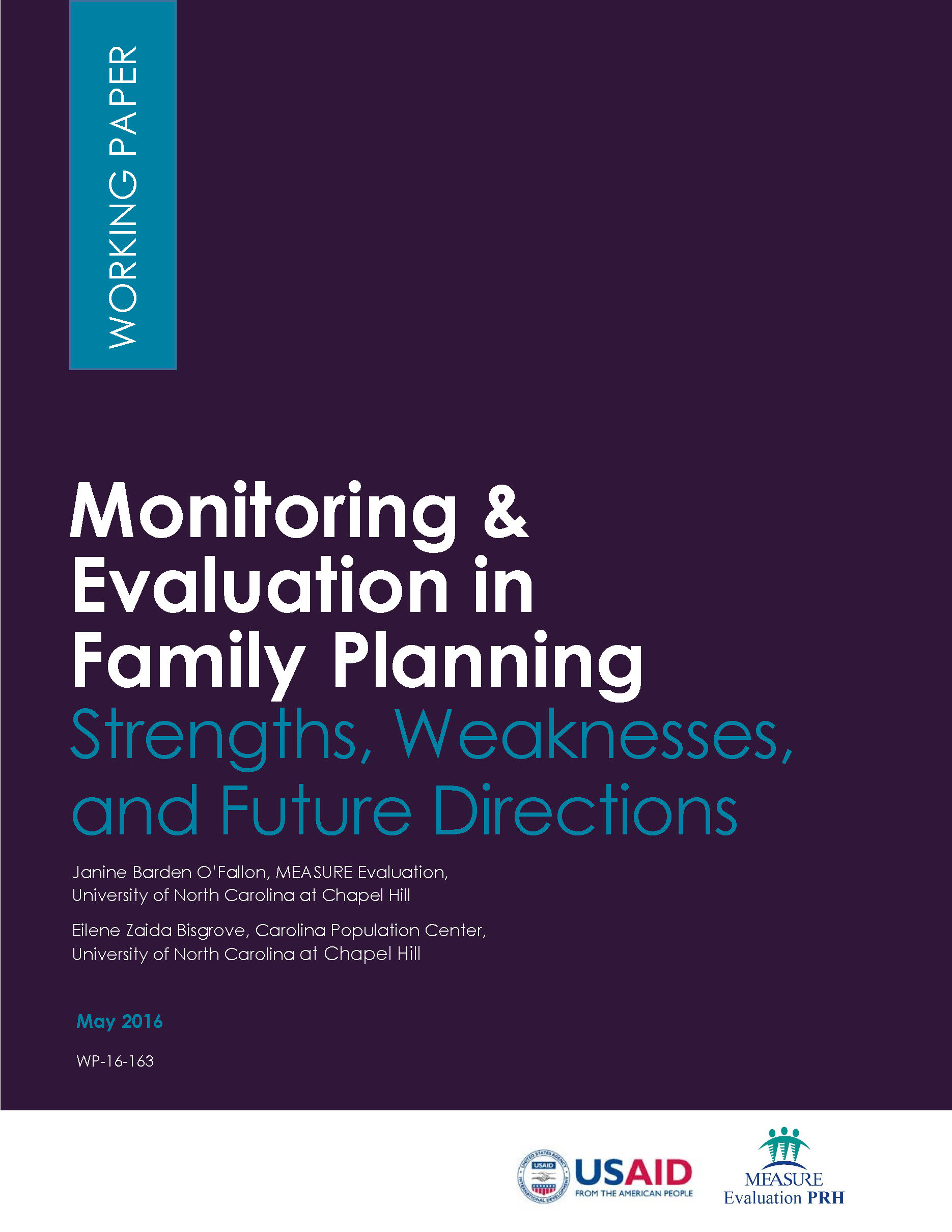 Monitoring & Evaluation in Family Planning: Strengths