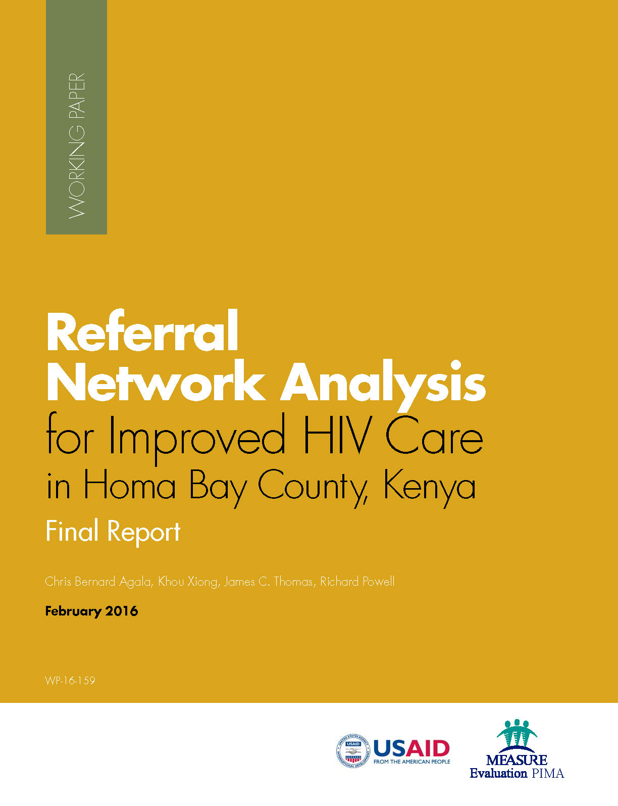 Referral Network Analysis for Improved HIV Care in Homa Bay County