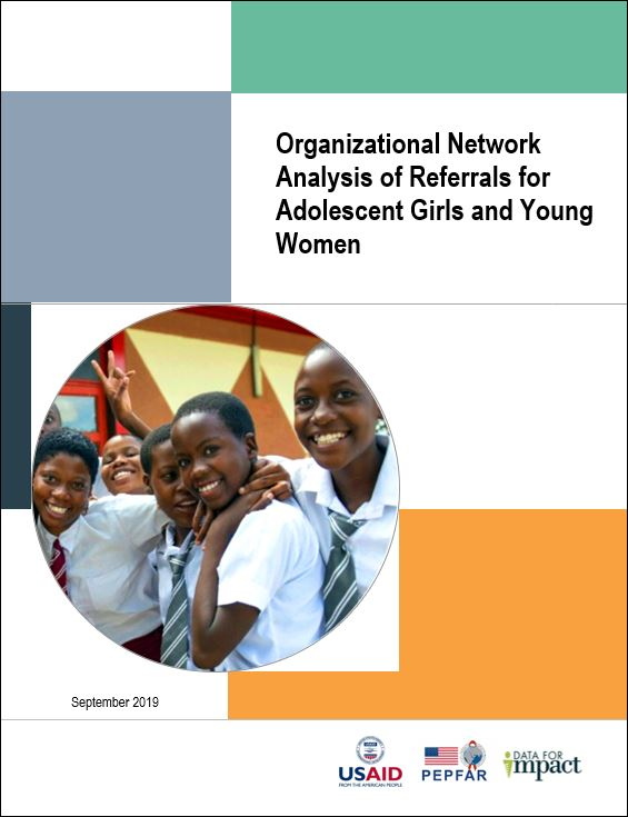 Organizational Network Analysis of Referrals for Adolescent Girls and Young Women