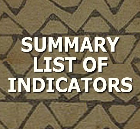 Summary List of Indicators