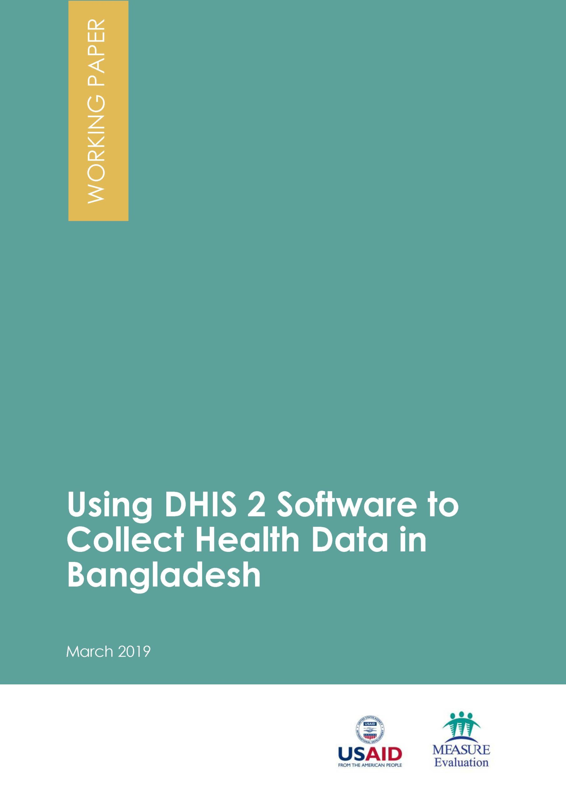 Using DHIS 2 Software to Collect Health Data in Bangladesh