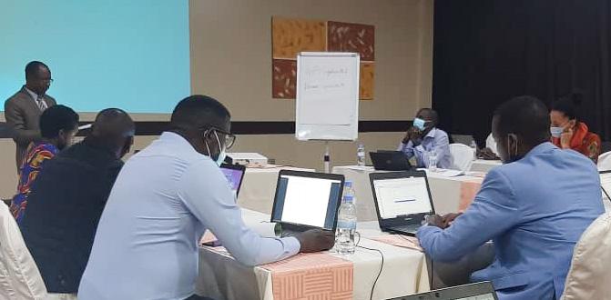 Participants at a workshop in Rwanda. Photo by Ismael Ddumba-Nyanzi.